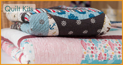 Patchwork quilting fabric, wadding, threads, Sizzix & tools from