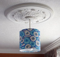 lampshade kit 20cm diameter round for hanging or table lamp