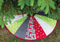 June Tailor Christmas Tree Skirt Quilt as You Go Pre-Printed Wadding