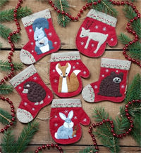 Christmas Critters Ornaments Kit by Rachel's of Greenfield