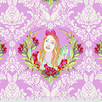 Alice Curiouser and Curiouser 100/% Quality Cotton Poplin Fabric Exclusive *